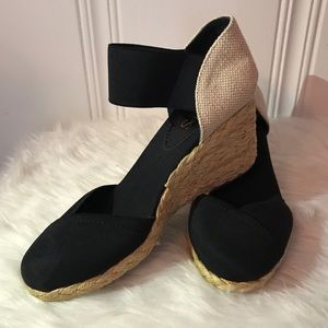 New without tag Chaps Wedge Espadrilles